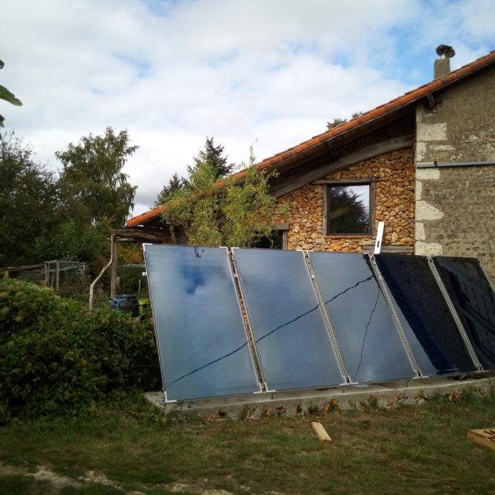 Installation d'un chauffage solaire combiné à une cuisinière