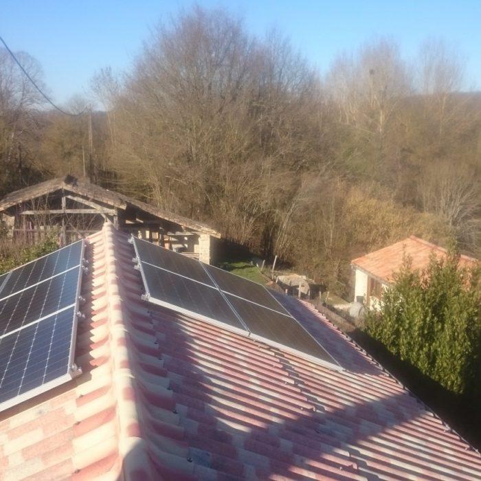 Photovoltaïque en autoconsommation avec vente de surplus à Anché (86)